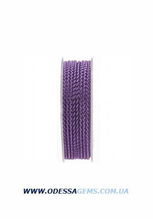 Купить Шелковый шнур Милан 2016 3.0 мм, Цвет: Фиолетовый