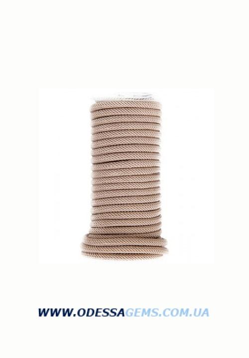 Купить Шелковый шнур Милан 221 4.0 мм Цвет: Бежевый