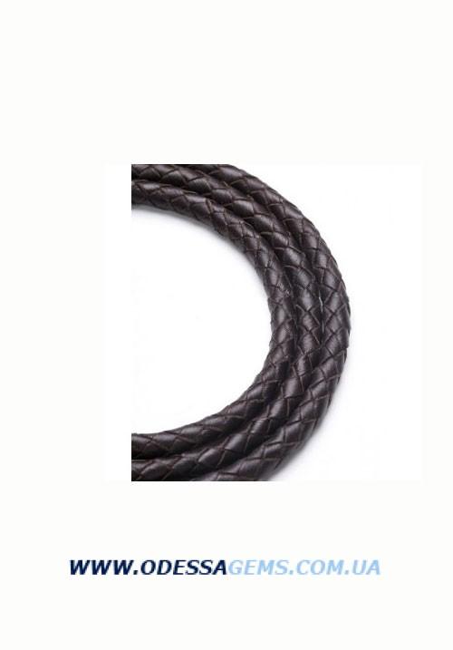 Купить Кожаный плетеный шнур 5,0 мм, Коричневый SKY Австрия 2