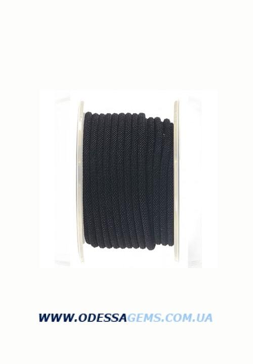 Купить Шелковый шнур Милан 221 4.0 мм Цвет: Черный