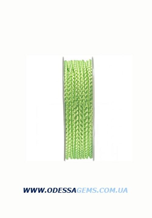 Купить Шелковый шнур Милан 2016 3.0 мм, Цвет: Салатовый