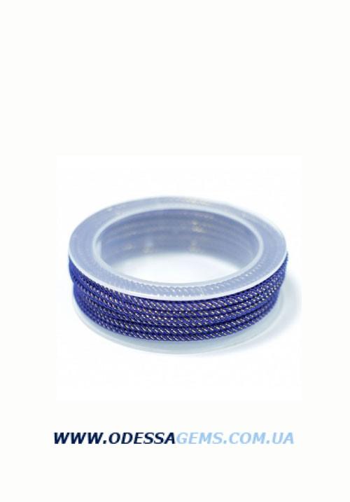 Купить Шелковый шнур Милан 235 3.0 мм Цвет: Синий 2