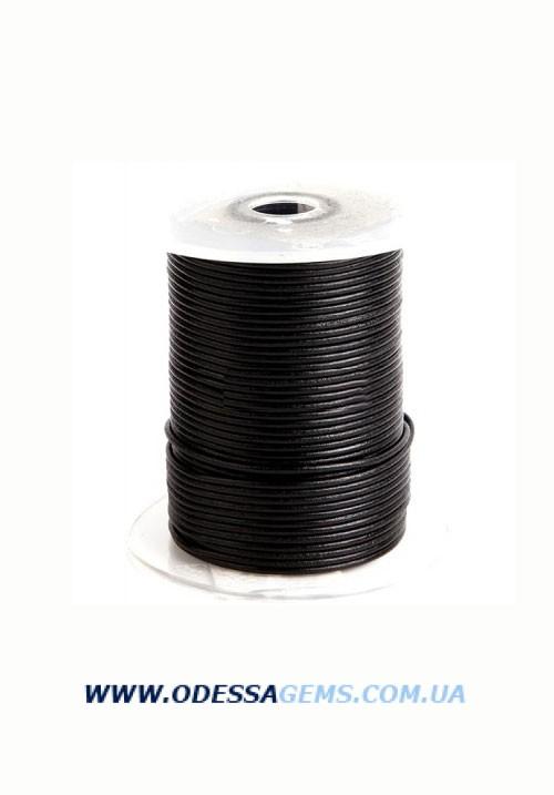Купить 2,0 мм Кожаный шнурок Цвет: Черный (Австрия)