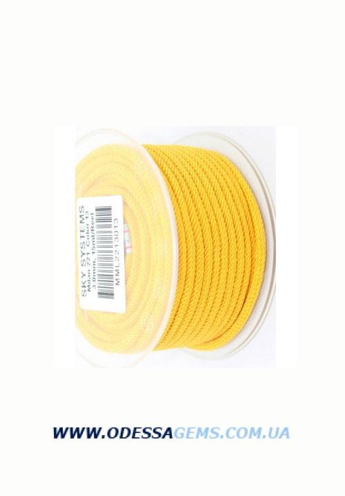 Купить Шелковый шнур Милан 221 3.0 мм Цвет: Желтый