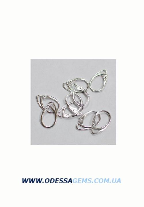 Швенза серебряная 17,7 мм x 10,7 мм цена за пару