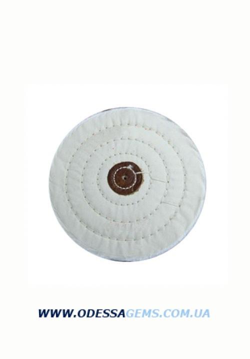 Купить Круг муслиновый CROWN белый d-150 мм, 50 слоев (с кож. пятаком)