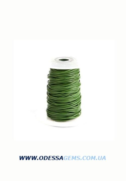 Купить 2,0 мм Кожаный шнурок Цвет: Зеленый