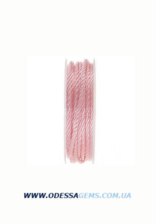 Купить Шелковый шнур Милан 301 3.0 мм Цвет: Розовый