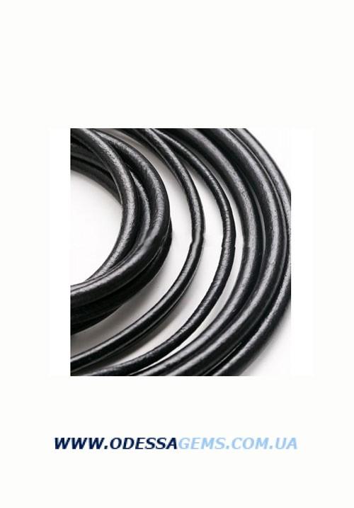 4,0 мм Кожаный шнурок Цвет: Черный (Испания)