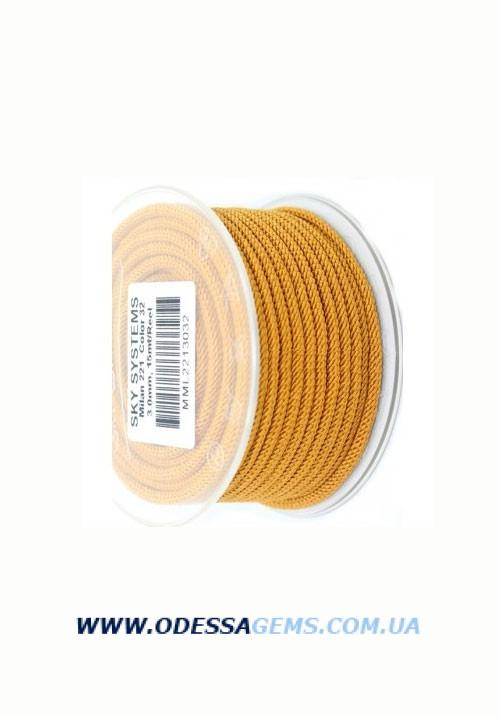 Купить Шелковый шнур Милан 221 3.0 мм Цвет: Песочный
