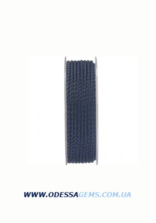 Купить Шелковый шнур Милан 2016 3.0 мм, Цвет: Темно-синий