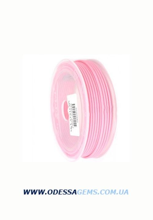 3,0 мм, Каучуковый шнур Розовый (Италия)