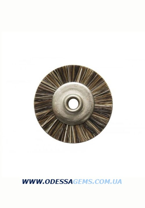 Щетка волосяная жесткая коричневая б/д, натуральный волос, d-22 мм