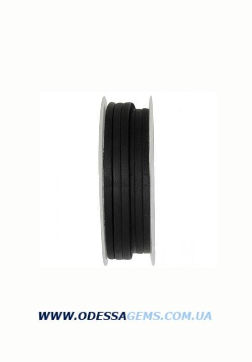 Купить Кожаная тесьма 1.0 x 4.0 мм, Цвет: Черный