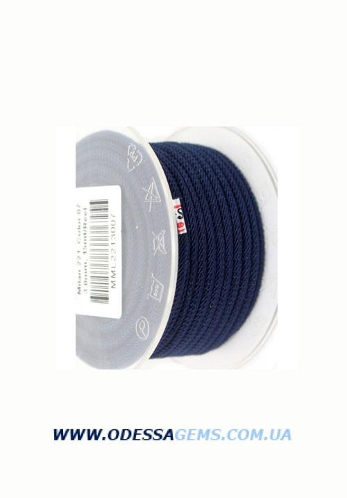 Купить Шелковый шнур Милан 221 3.0 мм Цвет: Темно-синий