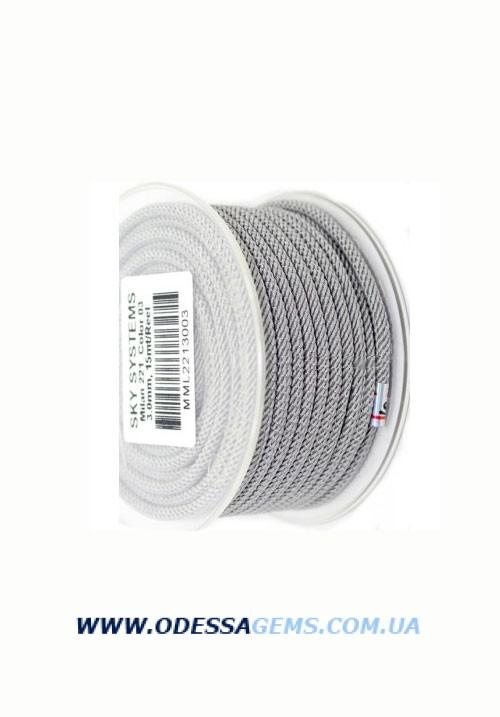 Купить Шелковый шнур Милан 221 3.0 мм Цвет: Светло-серый