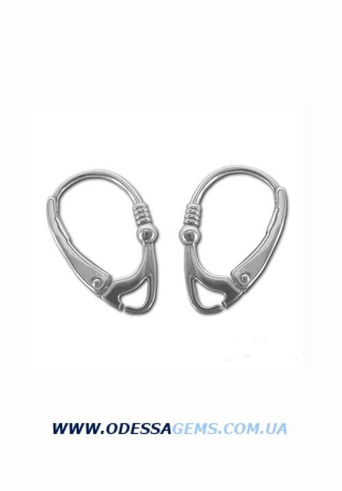 Застежки на серьги серебро 925 №004