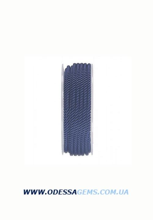 Купить Шелковый шнур Милан 226 3.0 мм, Цвет: Синий