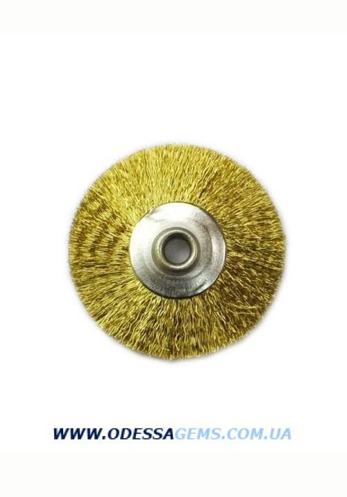 Полировальный Круг 22 мм гофрированная латунная щетина