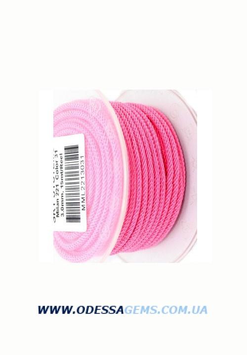 Купить Шелковый шнур Милан 221 3.0 мм Цвет: Розовый 1