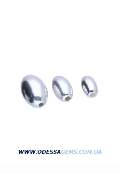 Серебряные бусины 925 олива цена указанна за 3 мм