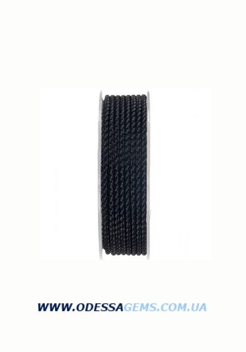 Шелковый шнур Милан 2016 3.0 мм, Цвет: Черный