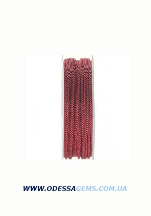 Купить Шелковый шнур Милан 226 3.0 мм, Цвет: Бордовый