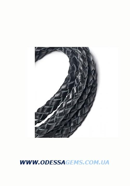 Купить Кожаный плетеный шнур 9,0 мм, Цвет: Черный SKY Австрия