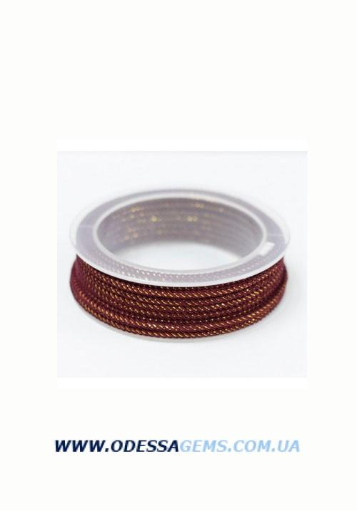 Купить Шелковый шнур Милан 235 3.0 мм Цвет: Бордо