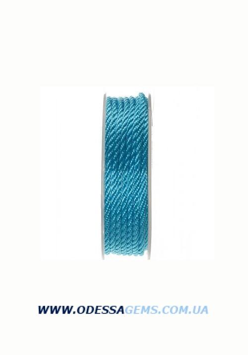 Купить Шелковый шнур Милан 301 3.0 мм Цвет: Бирюза