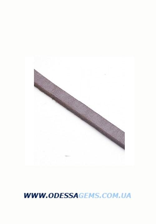 Купить Плоский кожаный шнур 6x3 мм, Коричневая
