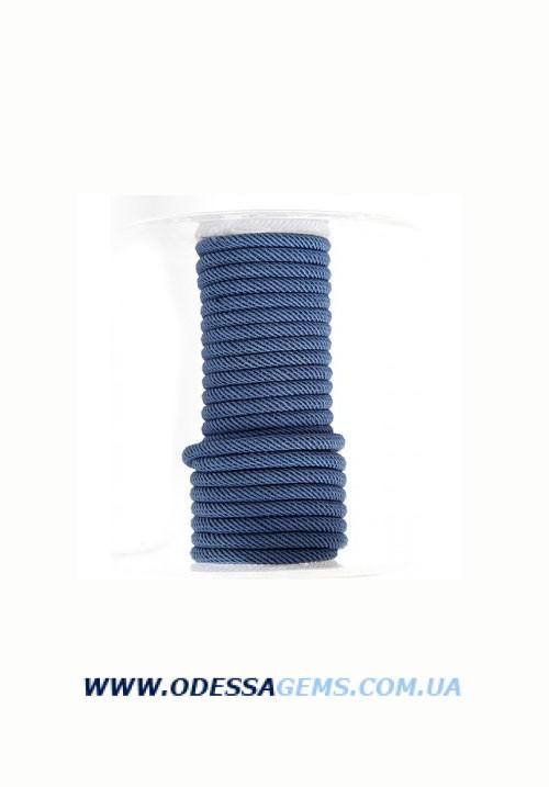 Купить Шелковый шнур Милан 221 4.0 мм Цвет: Синий