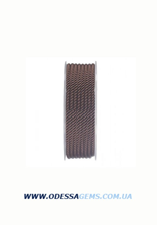 Купить Шелковый шнур Милан 226 3.0 мм, Цвет: Коричневый