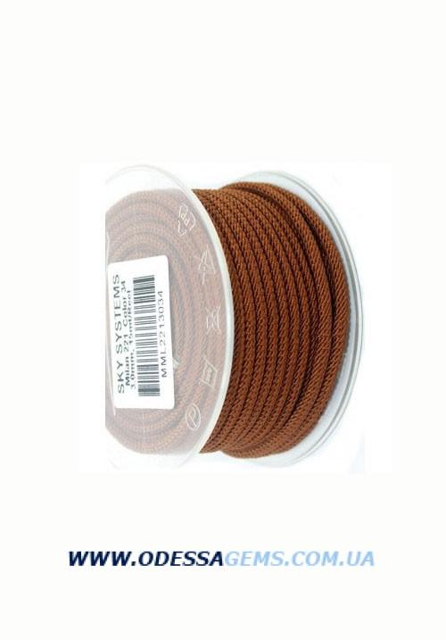 Купить Шелковый шнур Милан 221 3.0 мм Цвет: Коричневый 2