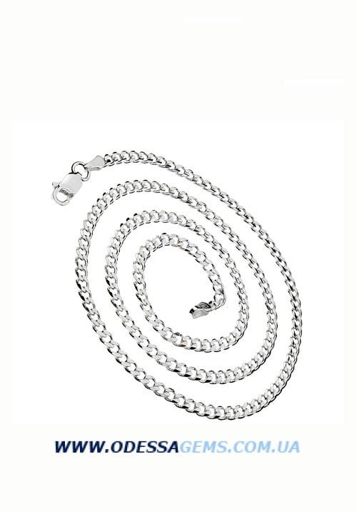 Серебряная цепь панцирное плетение