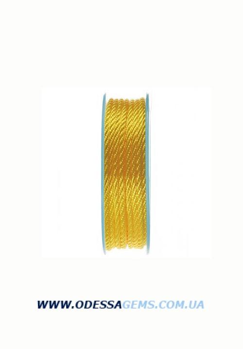 Купить Шелковый шнур Милан 301 3.0 мм Цвет: Желтый