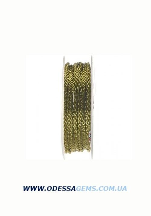 Купить Шелковый шнур Милан 301 2.0 мм Цвет: Зеленый