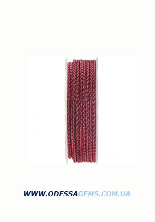 Купить Шелковый шнур Милан 2016 3.0 мм, Цвет: Бордовый