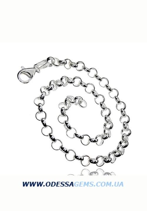 Цепь ROLO круглая серебро 925 проба