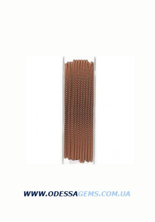 Купить Шелковый шнур Милан 226 2.0 мм, Цвет: Коричневый