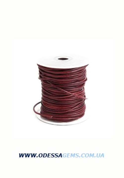 Купить 2,5 мм Кожаный шнурок Цвет: Красный 1 (Антик)