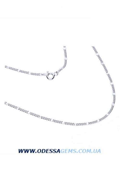 Цепь с вставками 1.8 мм серебро