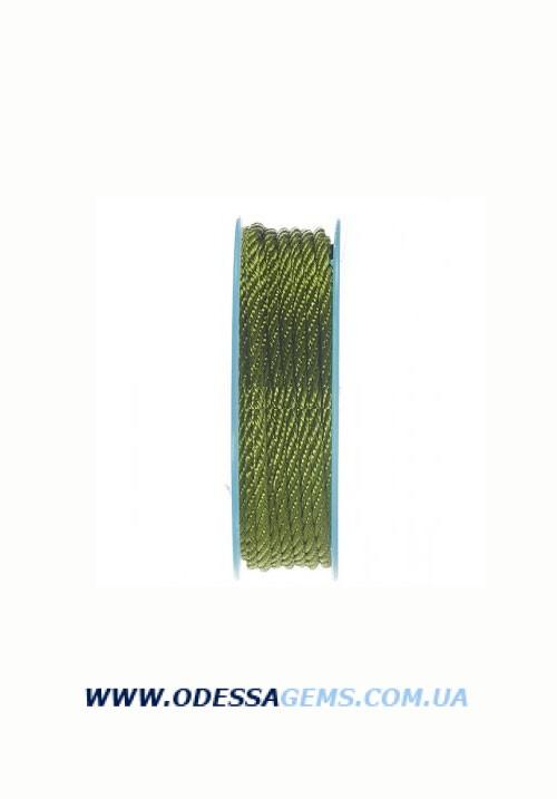 Купить Шелковый шнур Милан 301 3.0 мм Цвет: Зеленый