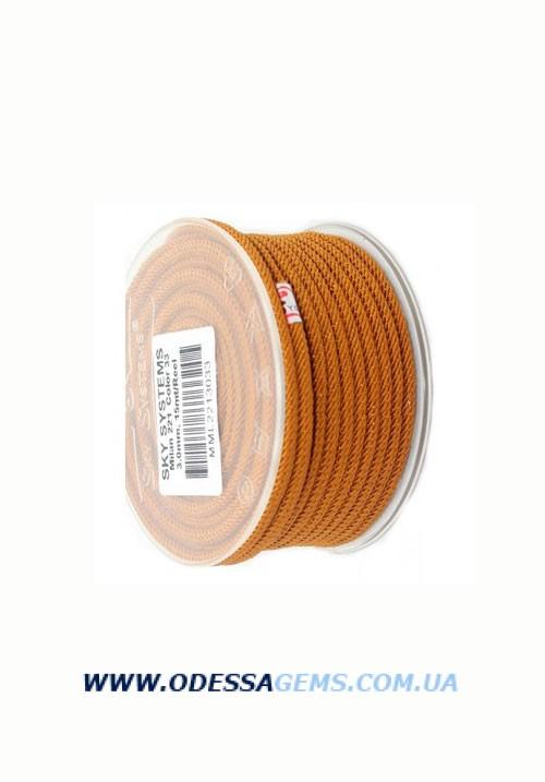 Купить Шелковый шнур Милан 221 3.0 мм Цвет: Коричневый
