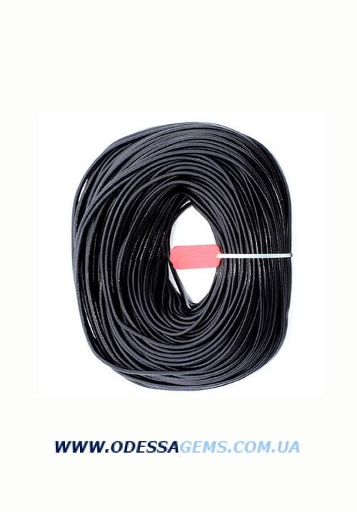 Купить 2,5 мм Кожаный шнурок Цвет: Черный