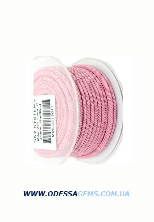 Купить Шелковый шнур Милан 221 3.0 мм Цвет: Розовый