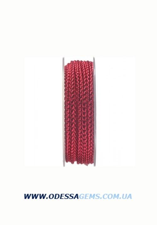 Шелковый шнур Милан 2016 3.0 мм, Цвет: Бургундский