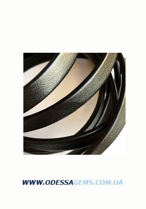 Купить Плоский кожаный шнур 6,0 x 2,0 мм, Черный (Испания)