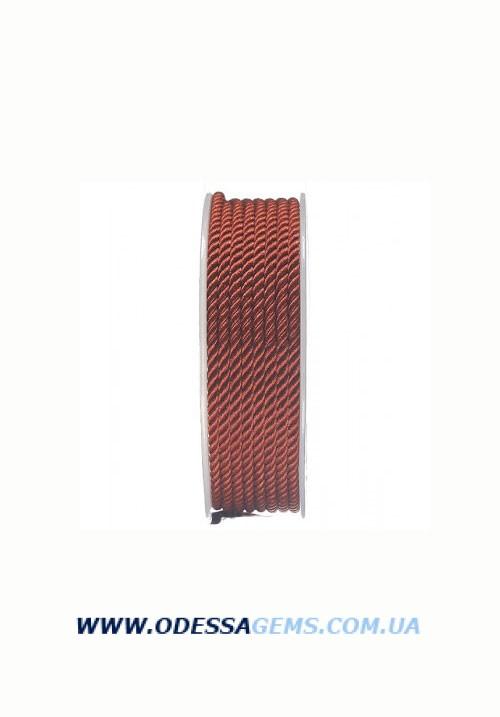 Купить Шелковый шнур Милан 226 3.0 мм, Цвет: Терракот