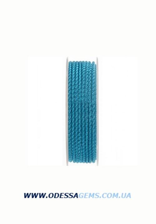 Купить Шелковый шнур Милан 2016 3.0 мм, Цвет: Голубой